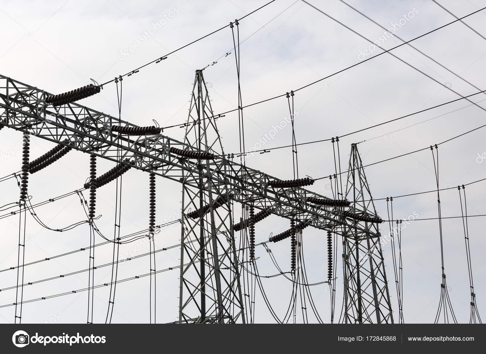 High Voltage Electric Tower. Power concept. — Stock Photo ...