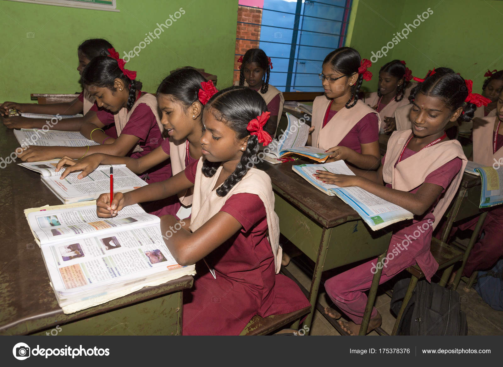Documentary Editorial Image Unidentified School Children Study In Classroom At Government Public School Stock Editorial Photo C Catherinel Prod 175378376