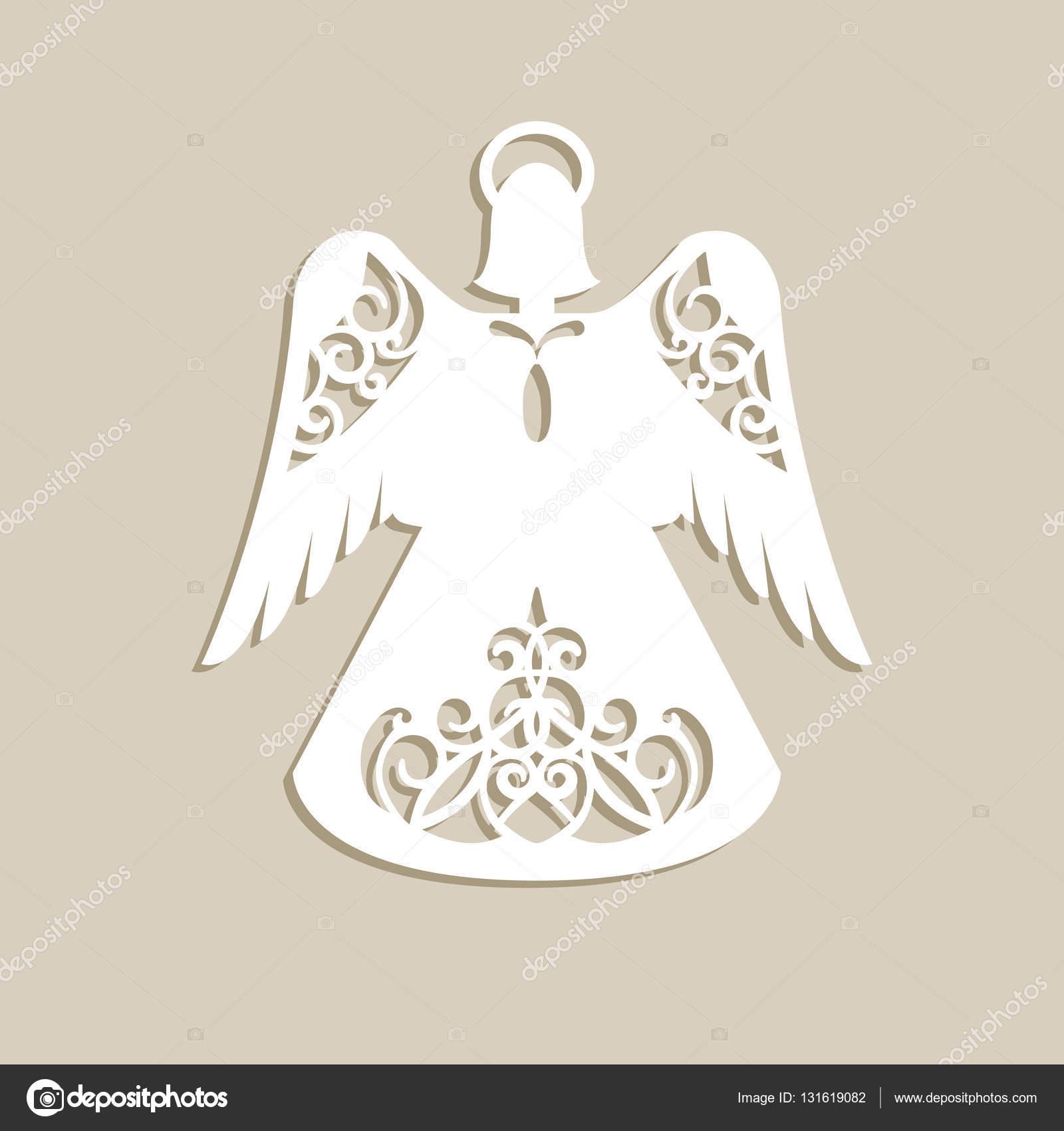Christmas Carved Openwork Angel Stock Vector Galinaalex 131619082