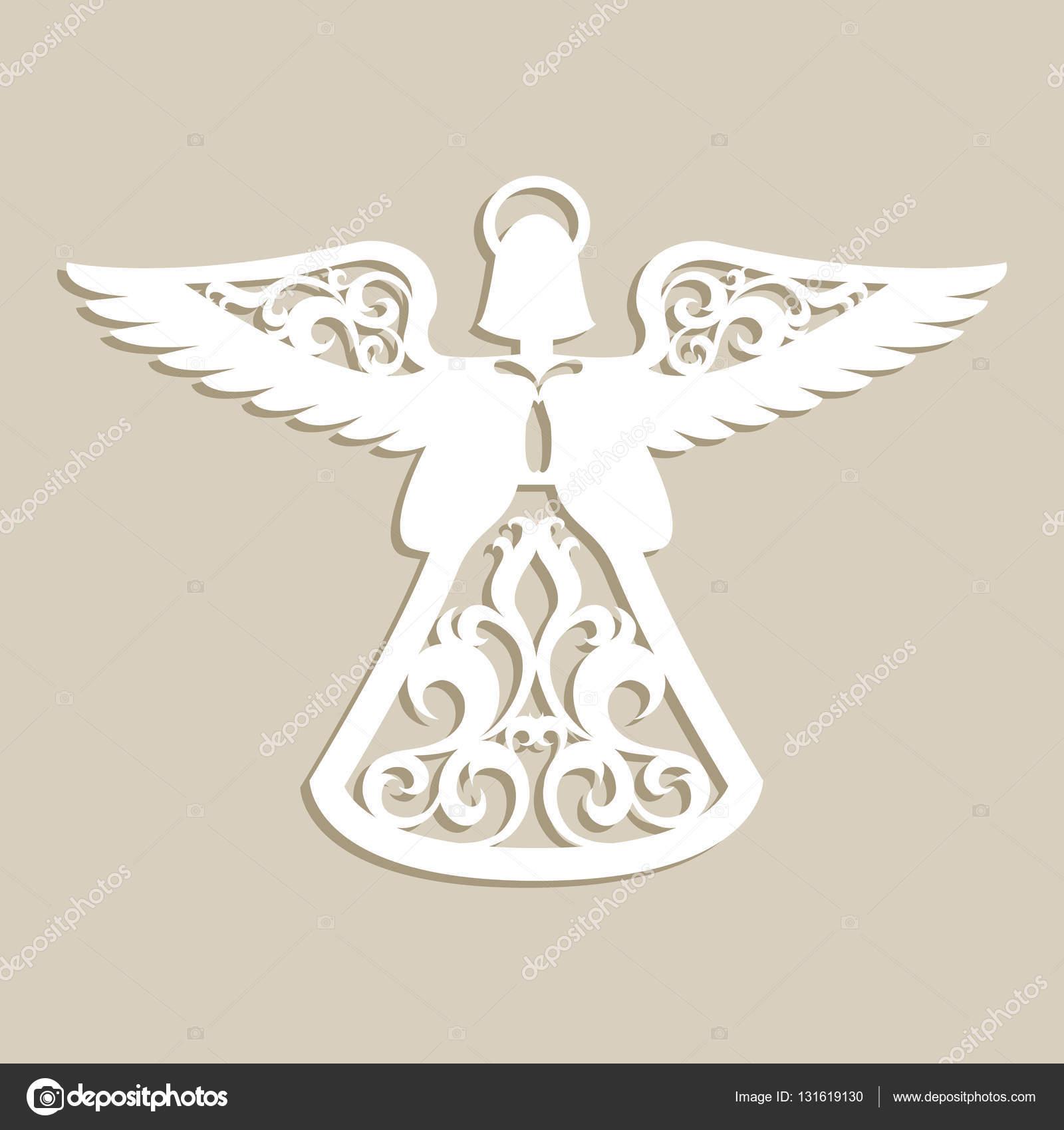 Christmas Carved Openwork Angel Stock Vector Galinaalex 131619130