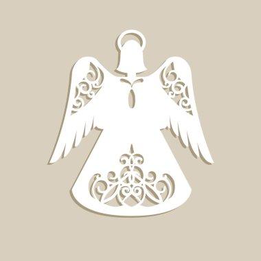 Christmas carved openwork angel