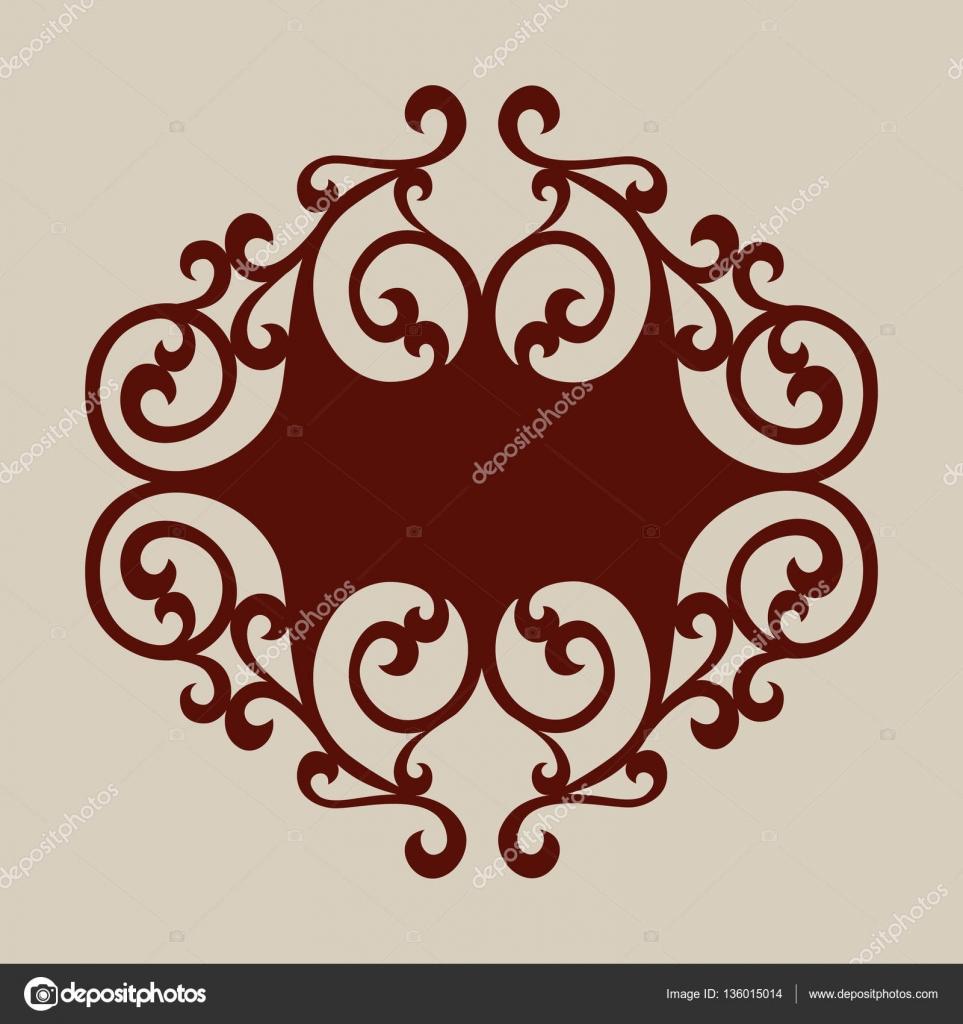 Plantilla para panel decorativo de corte láser — Vector de stock ...