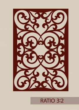 Template for laser cutting decorative panel