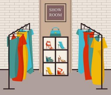 Modern loft interior showroom fashion