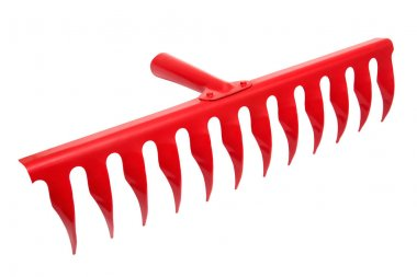 Powerful red rake for work