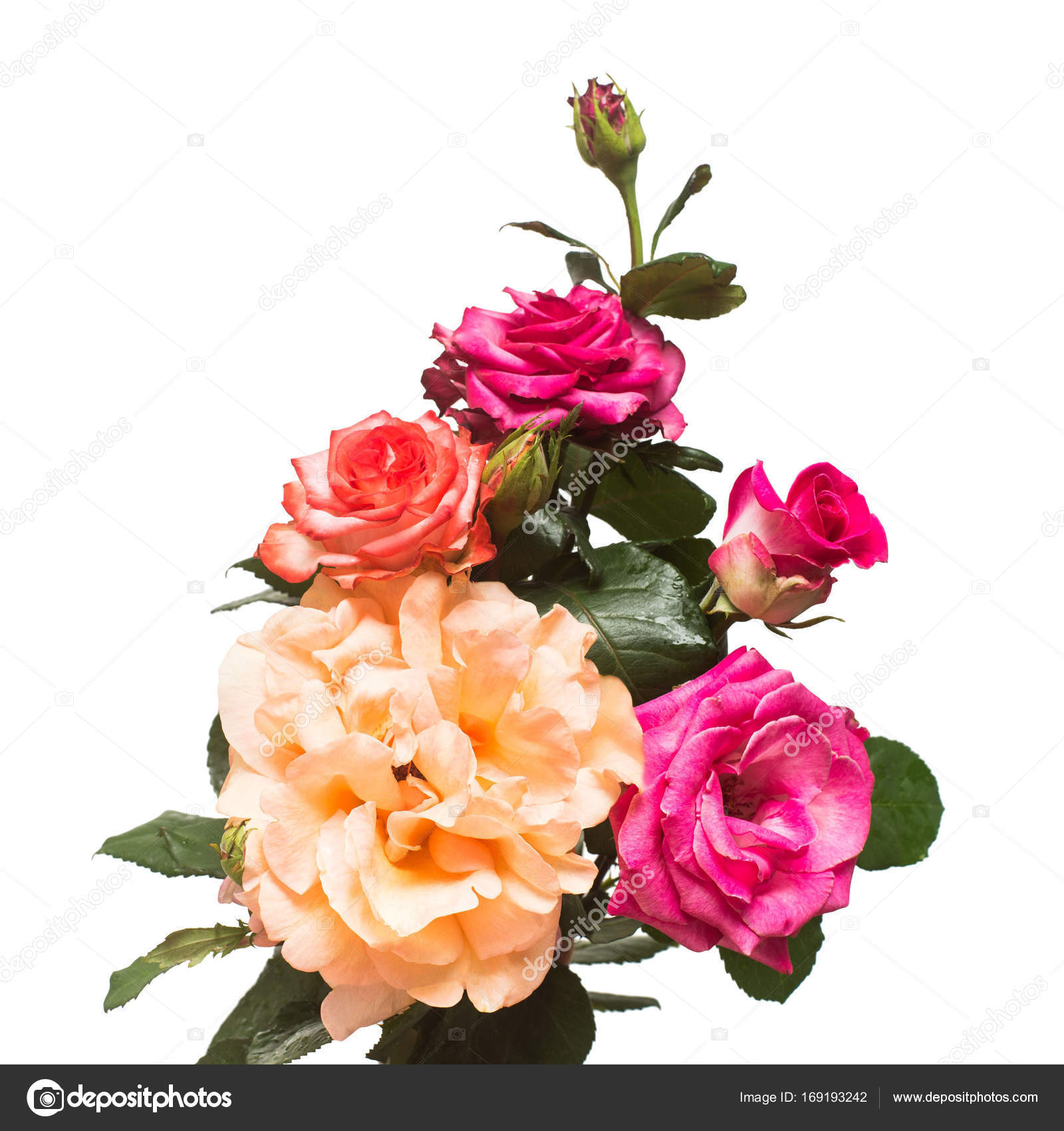 Bouquet of beautiful flowers rose of red orange and pink color bouquet of beautiful flowers rose of red orange and pink color wedding card summer spring flat lay top view love valentines day izmirmasajfo