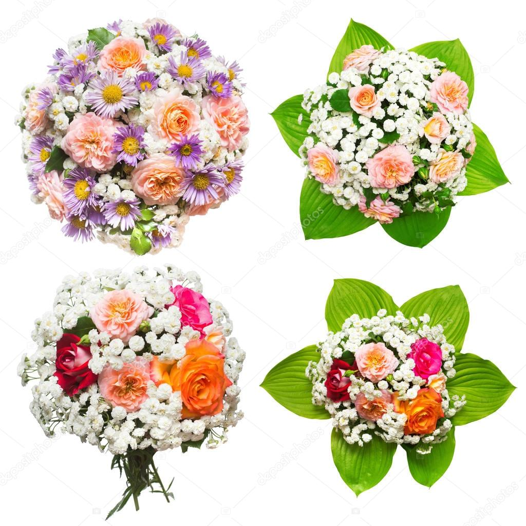 Creative collection bride's bouquets of beautiful roses and yarr