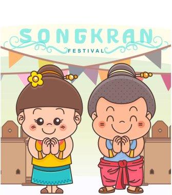 Thai kids Sawasdee