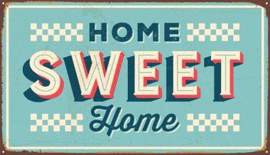 Vintage metal sign - Home Sweet Home