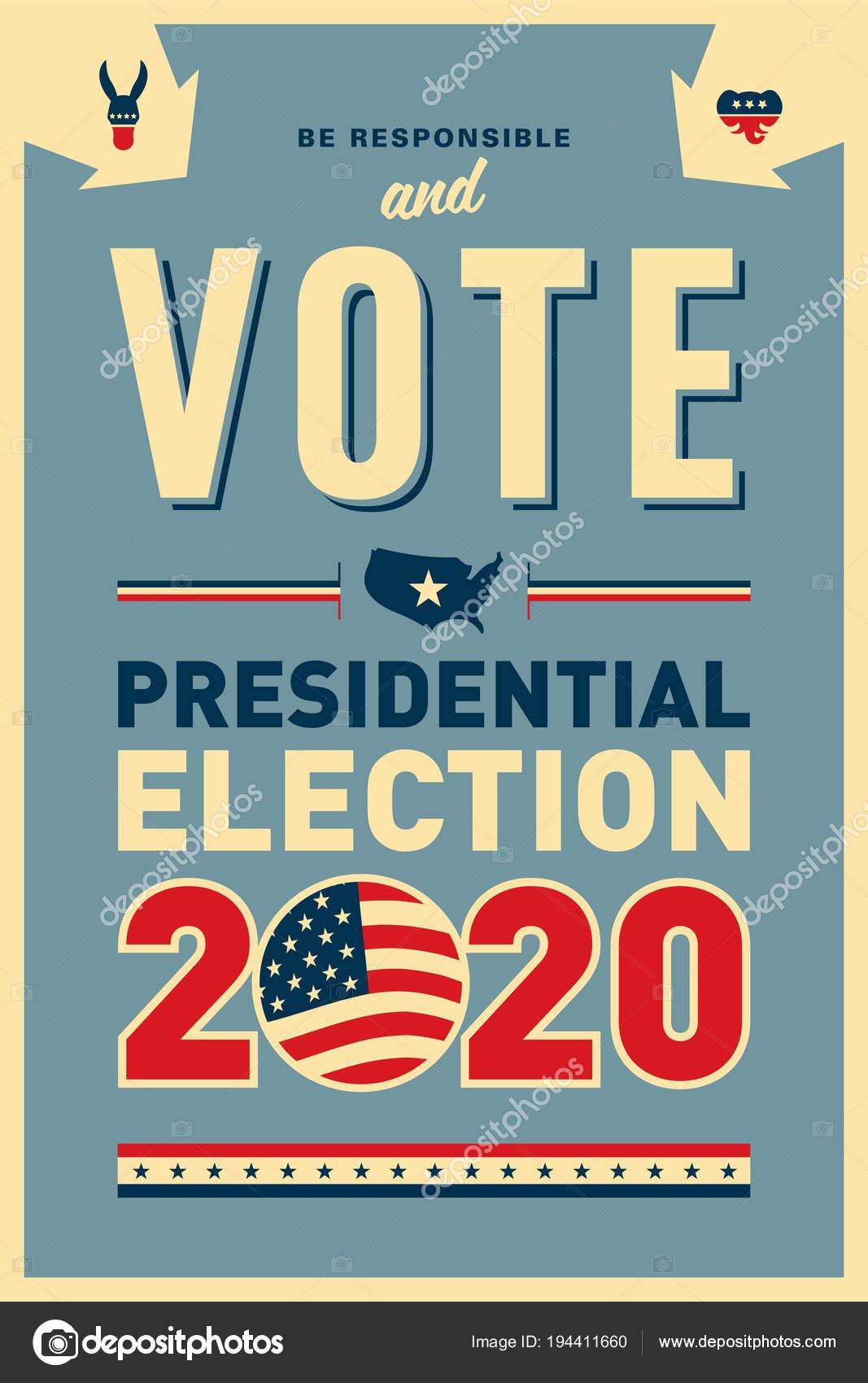 Election Poster Design Stock Vector C Realcallahan 194411660