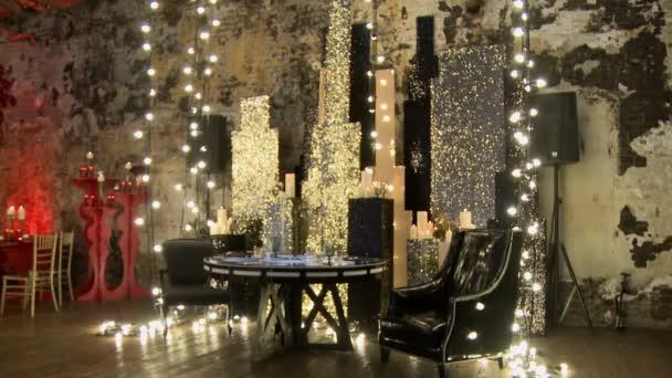 Brilliant celebration interior in gold tones
