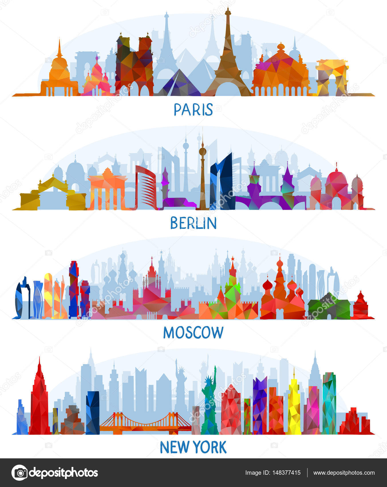 vector architecture (Paris, Berlin, Moscow and New York ...