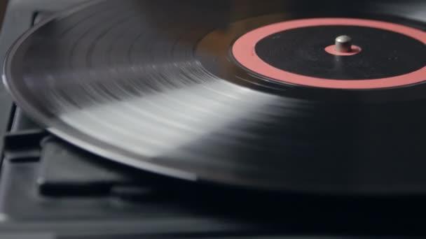 Vinyl forgatható lemezjátszó, felülnézet