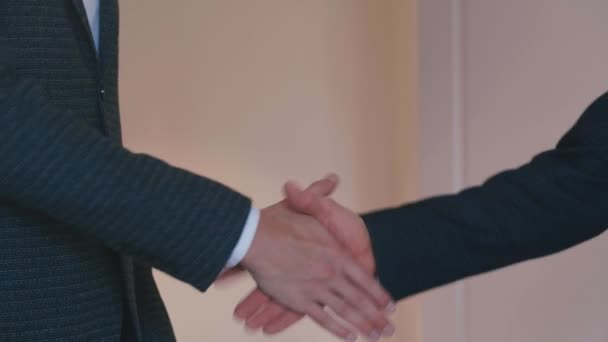 Handshake of two businessmen. Successful deal concept