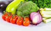 čerstvá zelenina, izolovaných na bílém pozadí