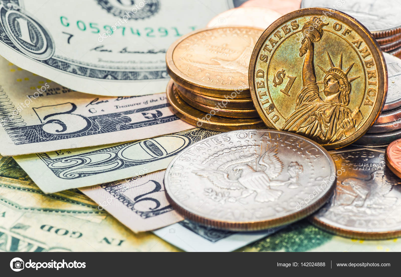 Still Life With Cash Dollars And Cents Us Stock P O
