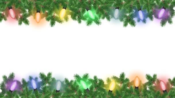 Colorful garland on the Christmas tree