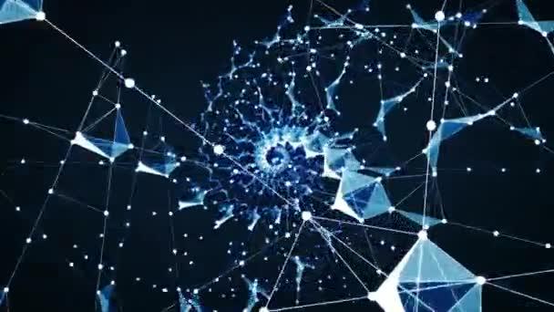 Futuristic network shape
