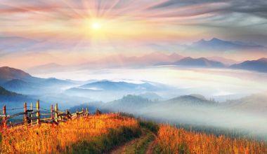 highlands in Ukrainian Carpathians