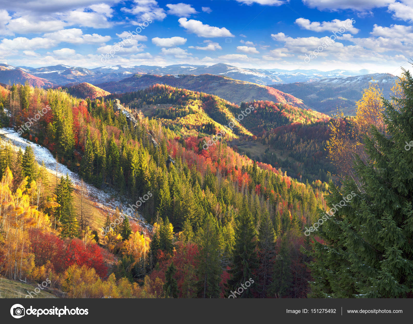 carpathian mountains in cold autumn stock photo panaramka ukr
