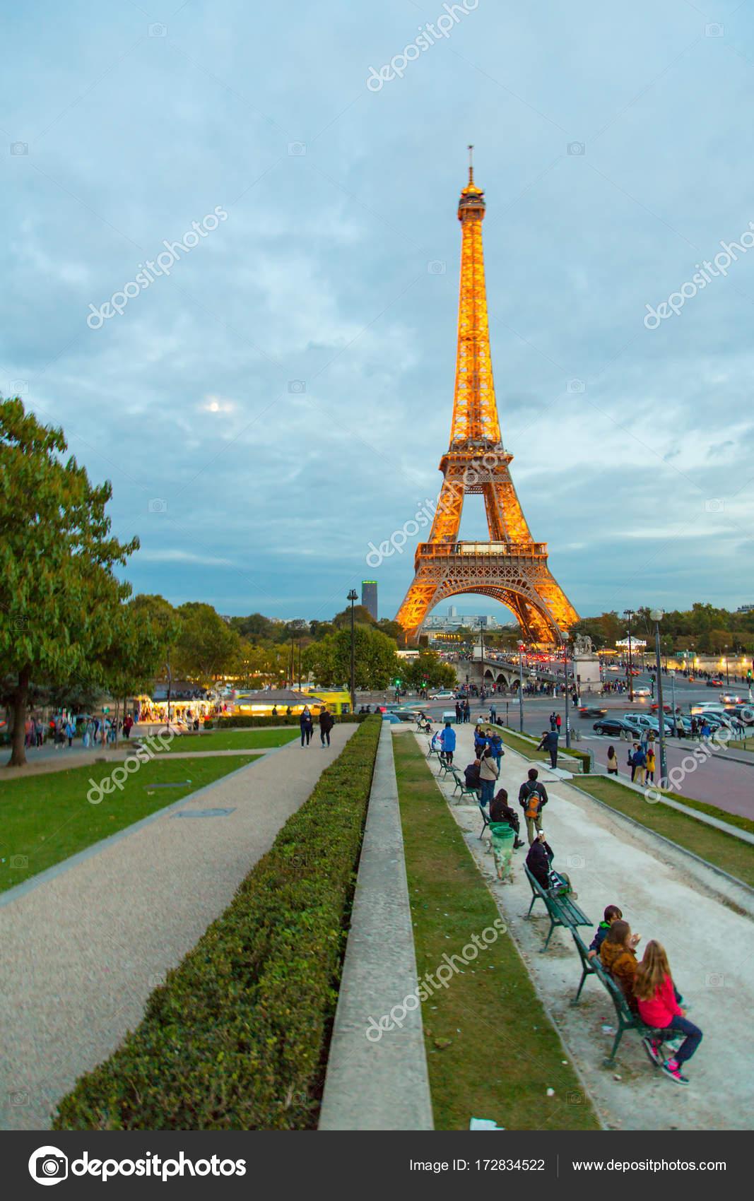 Paris Frankreich April 2016 Erstaunlich Stück Architektur Eiffelturm