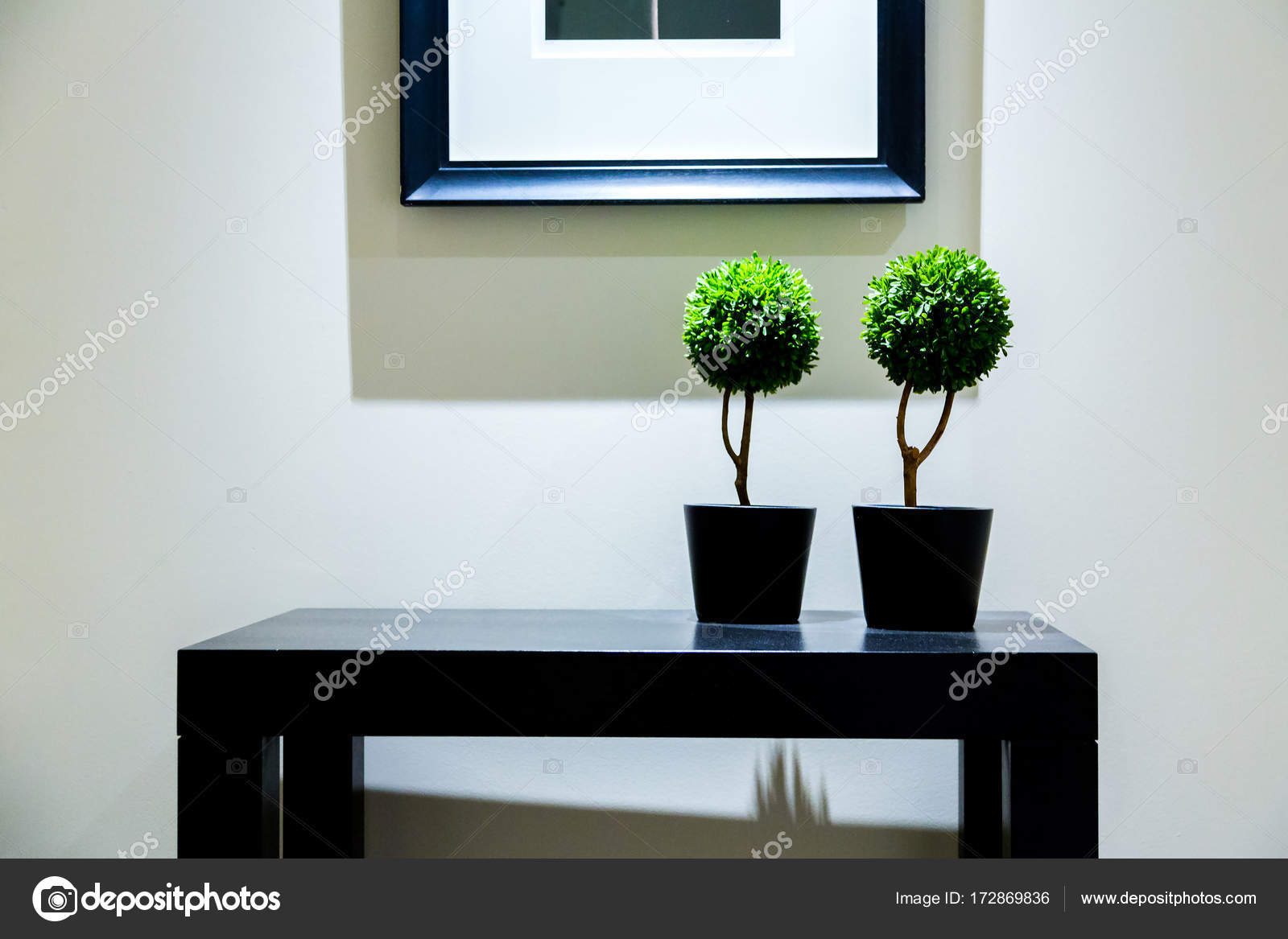 Due box piante pot camera dal design moderno u foto stock ingus