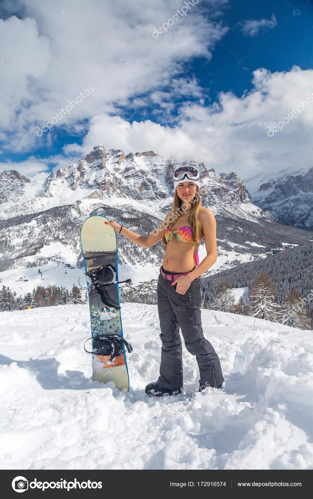 Сексуальные девушки на сноубордах