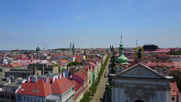 Krásné vzdušné město pohled v Praze