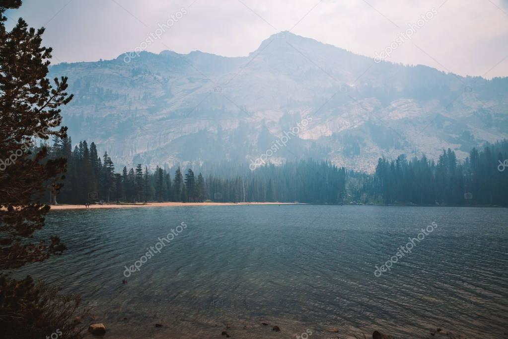 Smoke in the Yosemite National Park during forest fires