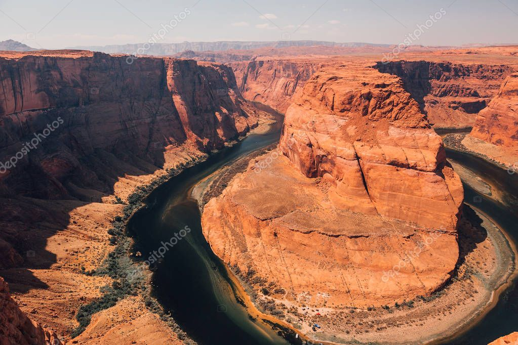 Horseshoe Bend is a famous meander on river Colorado near the town of Page. Arizona, USA.