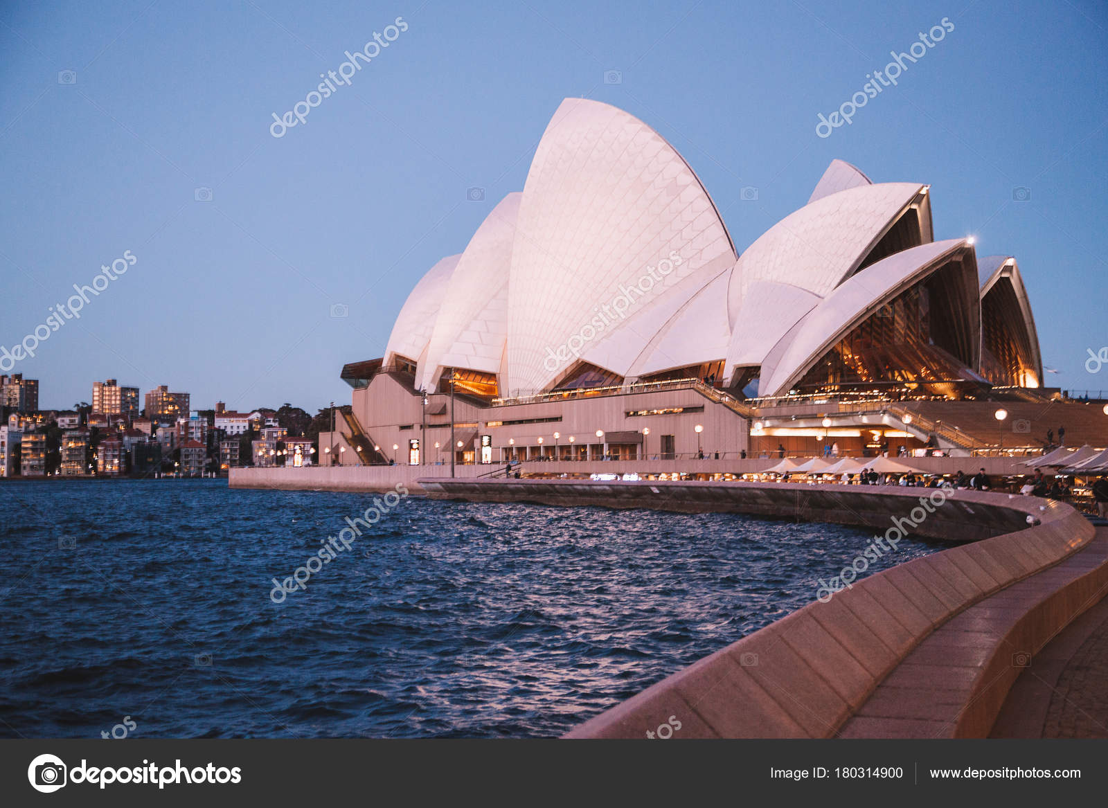 Beautiful Night View Sydney Opera House Night Sydney