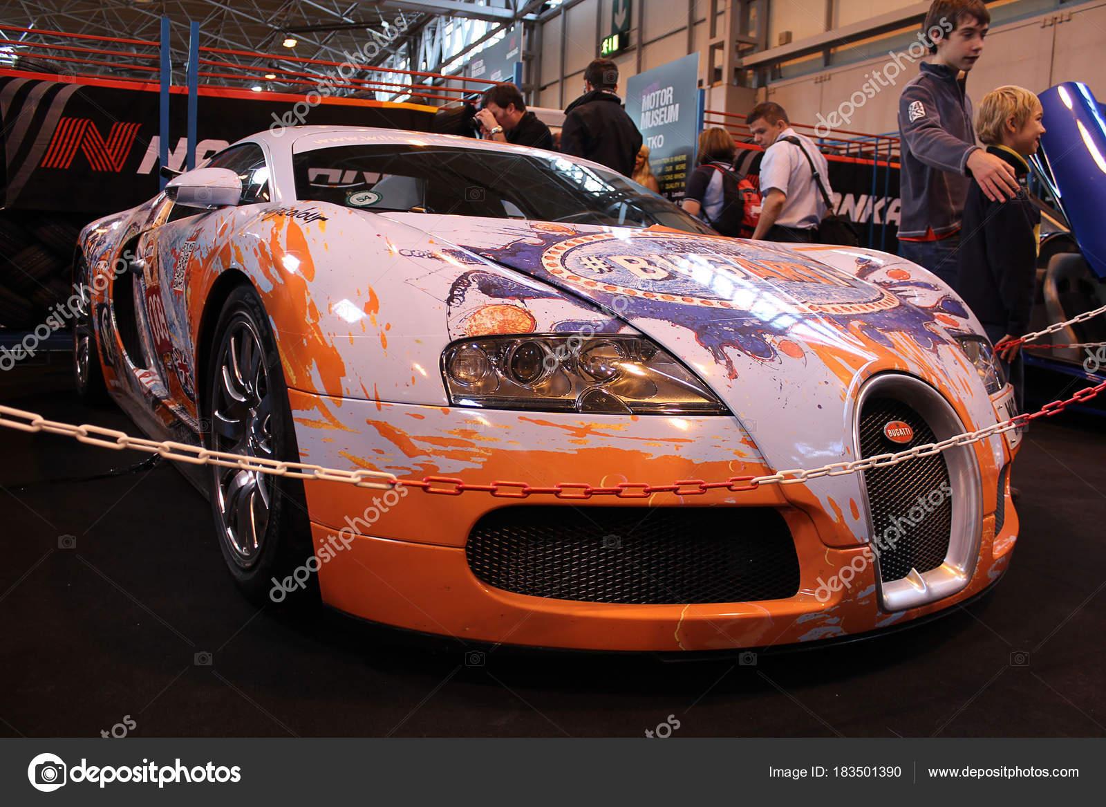 Birmingham Outubro 2012 Carro Bugatti Veyron Exposicao Carro Top