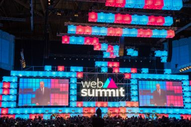 LISBON, PORTUGAL - NOVEMBER 08, 2017: Europe's biggest tech conference, the Web Summit