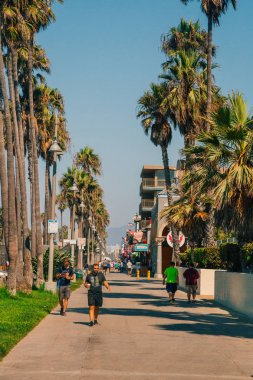 Amazing artistic Venice beach district in Los Angeles. USA. April 10, 2017.