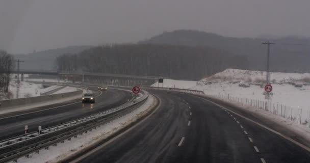 Německo provoz na dálnici Zpomalený pohyb