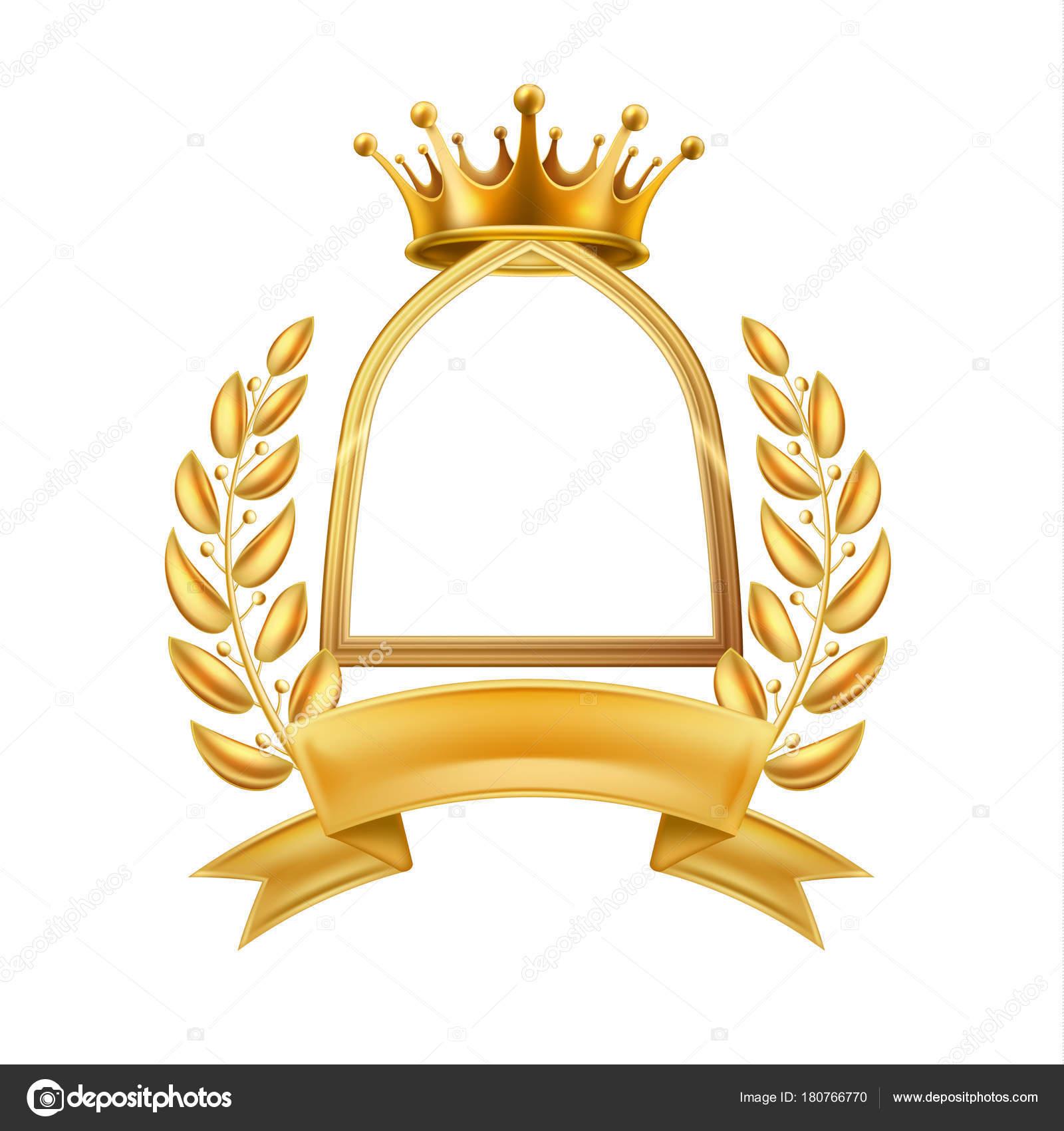Zlatá Koruna vavřínový věnec vítěz rám 8422535023