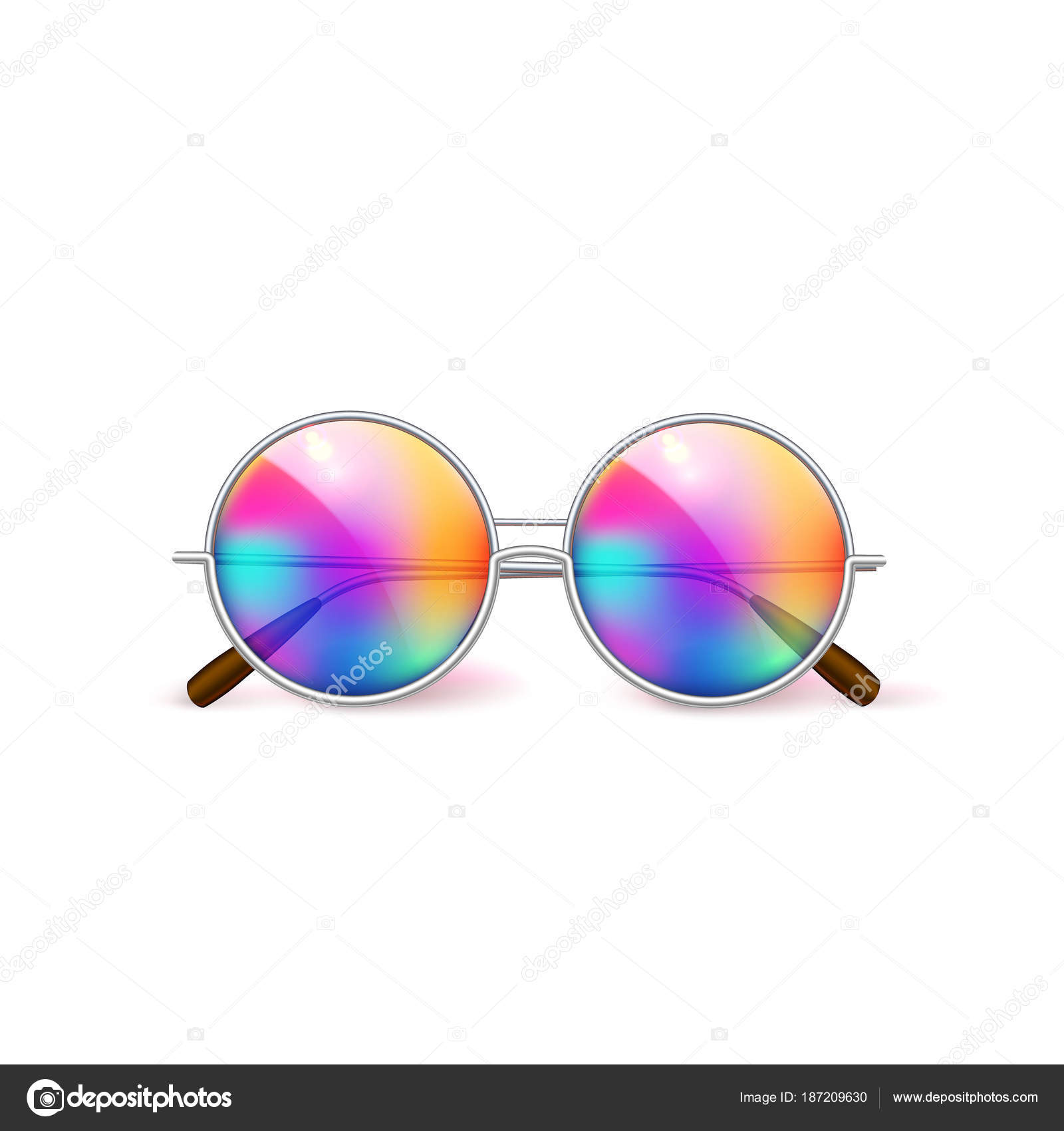 ecf9346267 Vector realistic eyeglasses retro circle hipster — Stock Vector ...