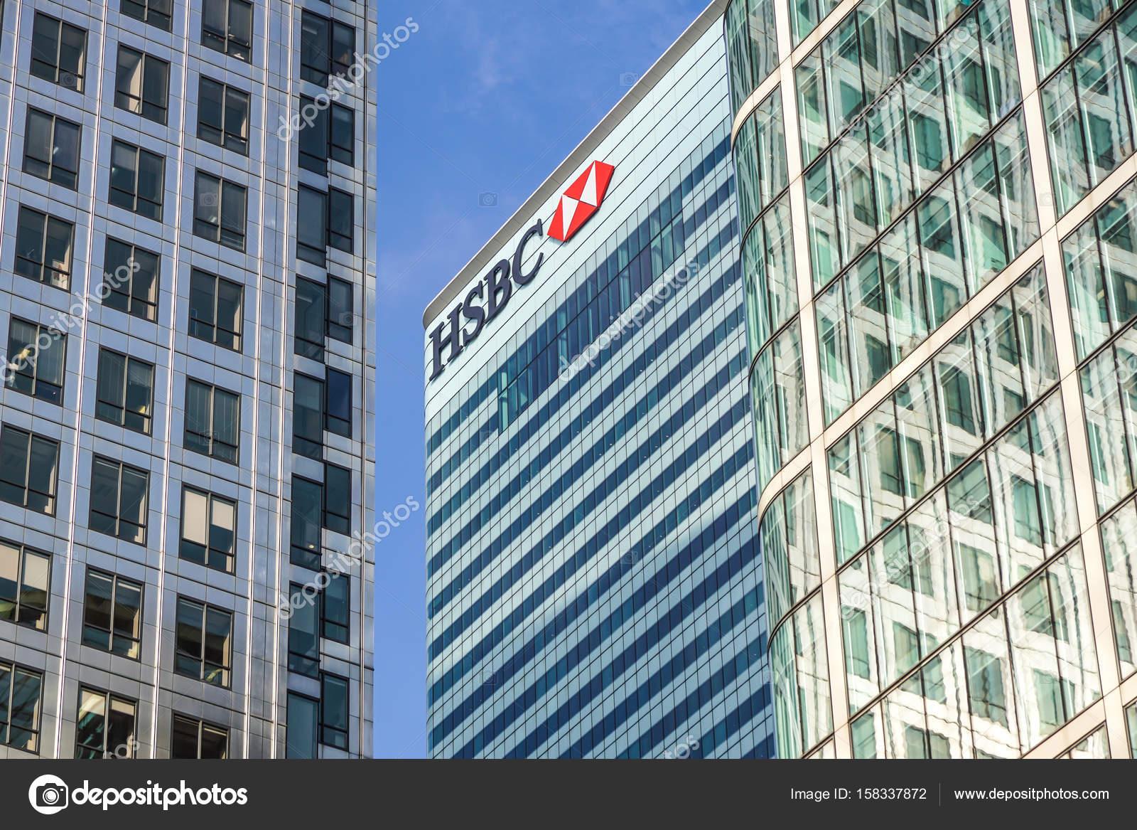 London, Uk - 6th April 2017: HSBC bank HQ in the city of London