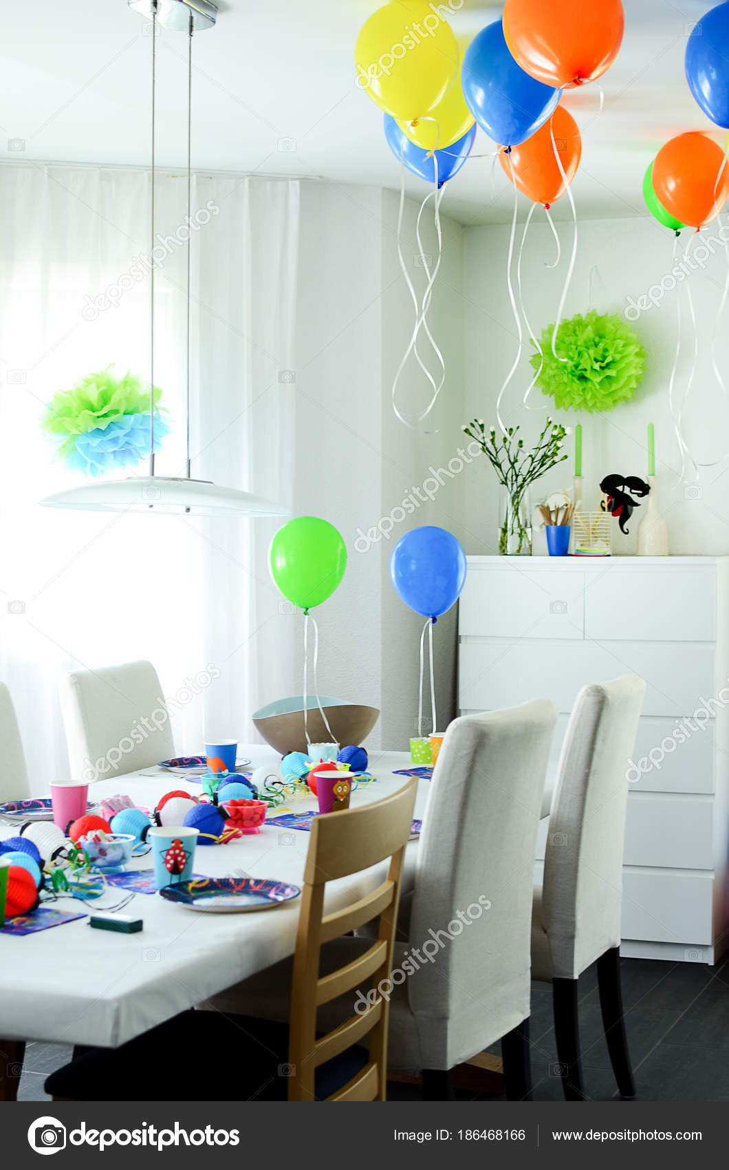 Excellent Multi Coloured Kids Birthday Party Rainbow Themed Decorated Caraccident5 Cool Chair Designs And Ideas Caraccident5Info