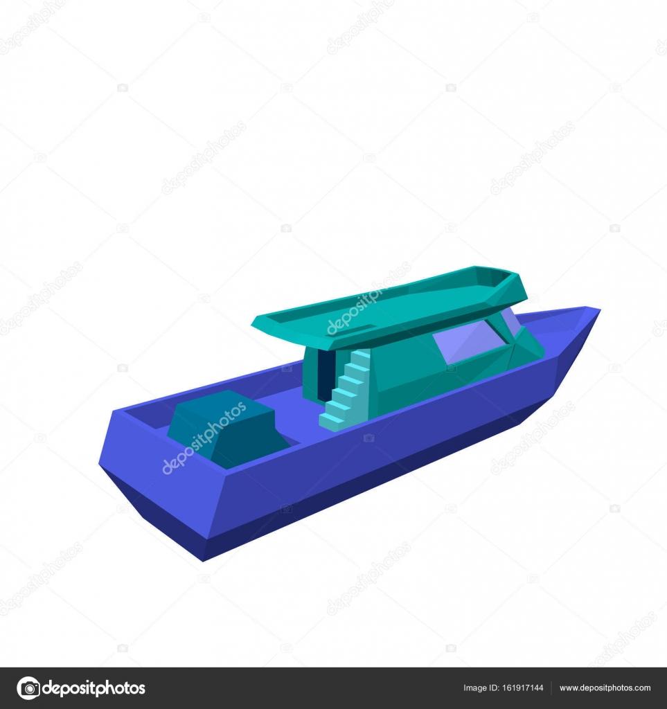 Barco a motor poligonal isolado no fundo branco 3d vector il barco a motor poligonal isolado no fundo branco 3d vector il vetor de ccuart Choice Image