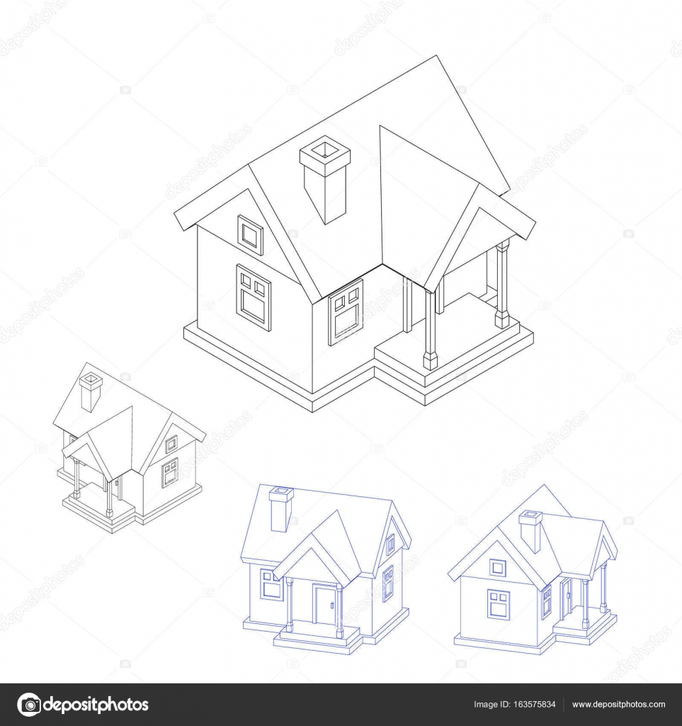 House model set isolated on white background vector illustrati house model set isolated on white background vector illustrati stock vector ccuart Gallery