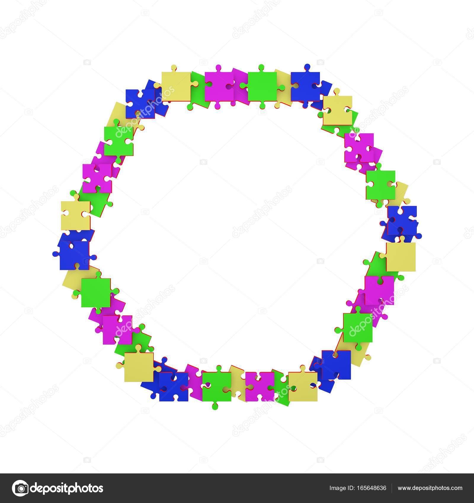 Puzzle-Rahmen in Form eines Sechsecks — Stockfoto © eestingnef ...