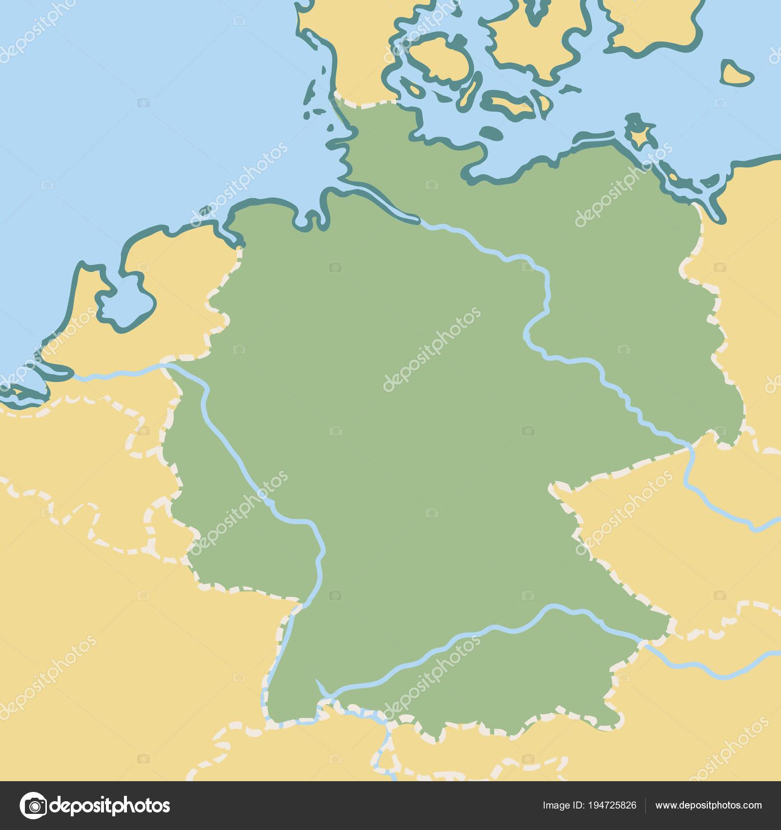Cartoon Map Of Germany.Map Of Germany Stock Vector C Lashmipics 194725826