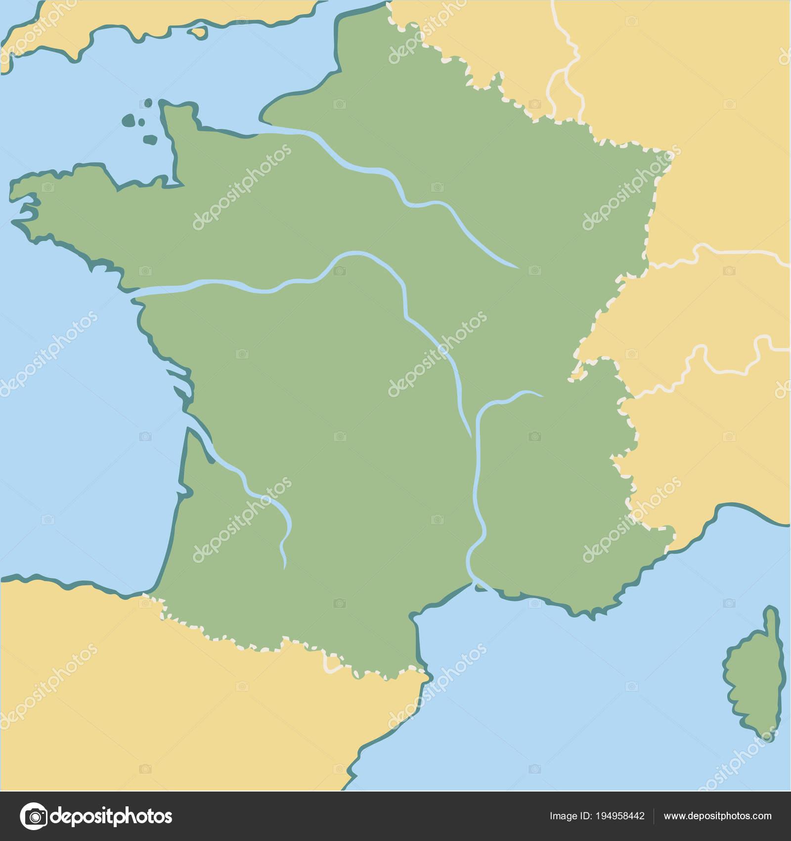 Map Of France Cartoon.Cartoon Map France Stock Vector C Lashmipics 194958442