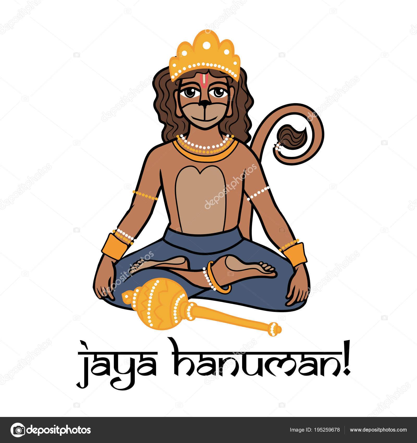 Cartoon vector king monkey lord hanuman sitting print greeting card cartoon vector king monkey lord hanuman sitting print greeting card stock vector m4hsunfo
