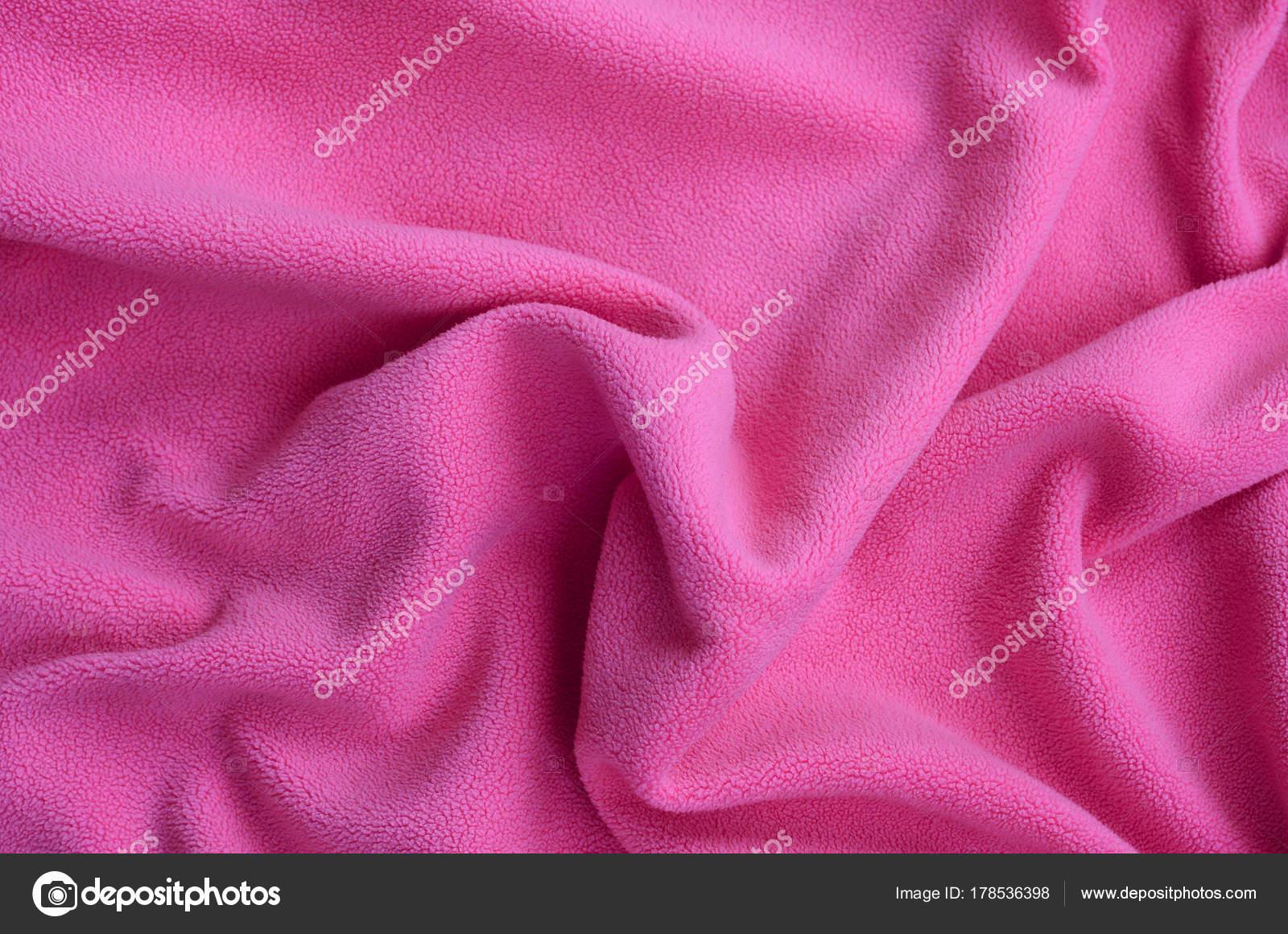 Carta Da Parati Pelosa Rosa : Coperta tessuto pile rosa pelose fondo materiale leggero rosa pile