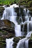 Fotografie Vodopád Shipot (Shipit) - jedna z nejkrásnějších a nejvíce full tekoucí vodopády Transcarpathia