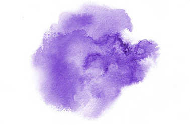 Hand drawn violet watercolor shape for your design. Creative painted background, hand made decoration