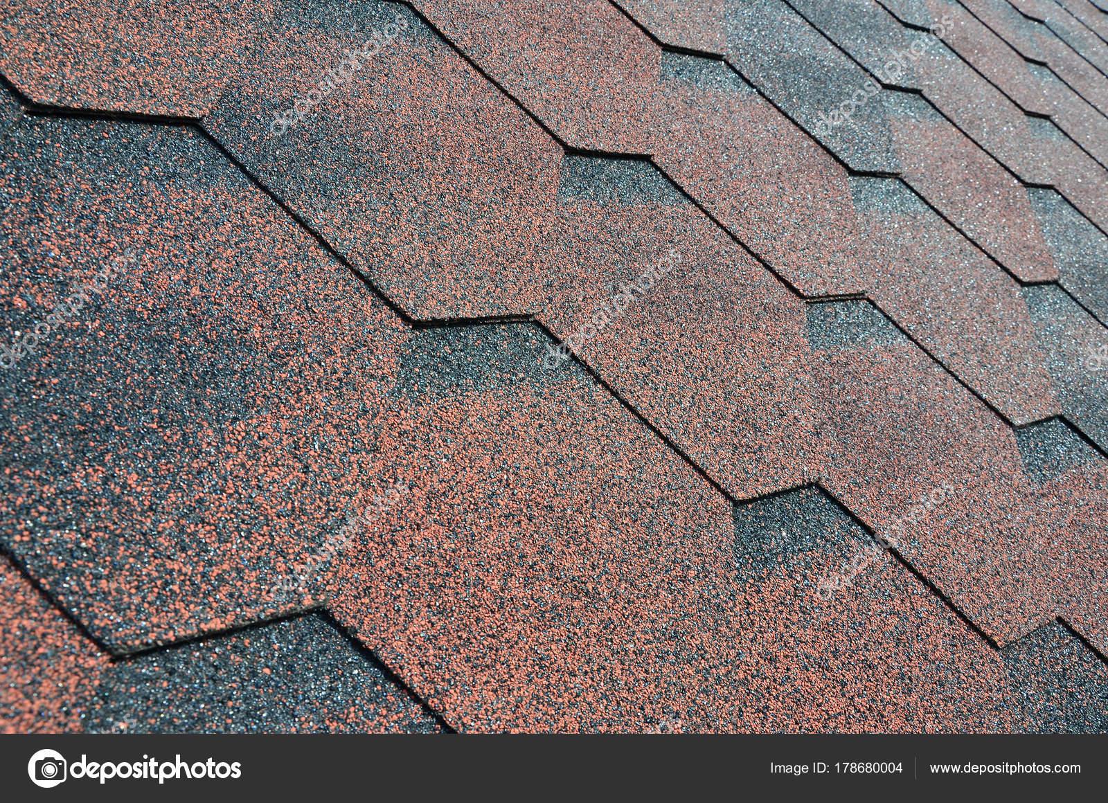 Texture Roof Bituminous Coating Rough Bituminous Mosaic Red Brown