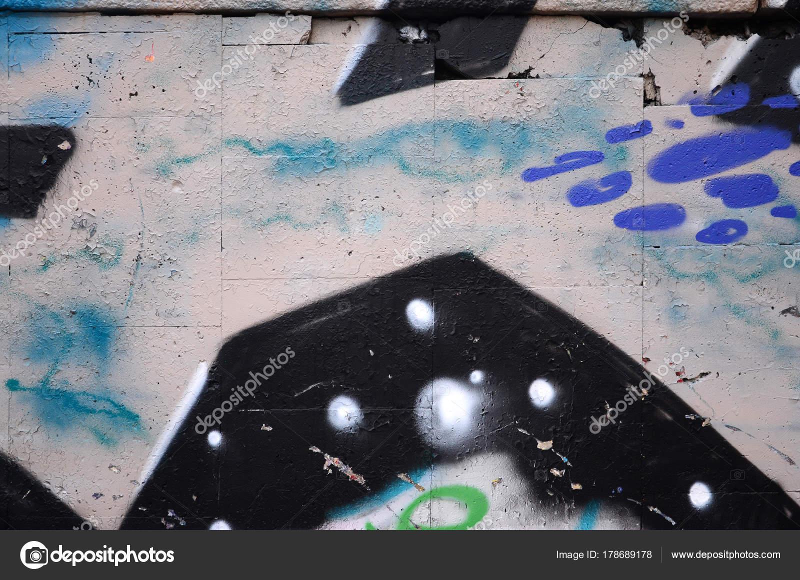 Fragmento Desenho Grafite Usando Contornos Aplicado Parede